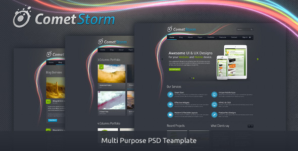 ThemeForest CometStorm Multi Purpose PSD Template 3720069