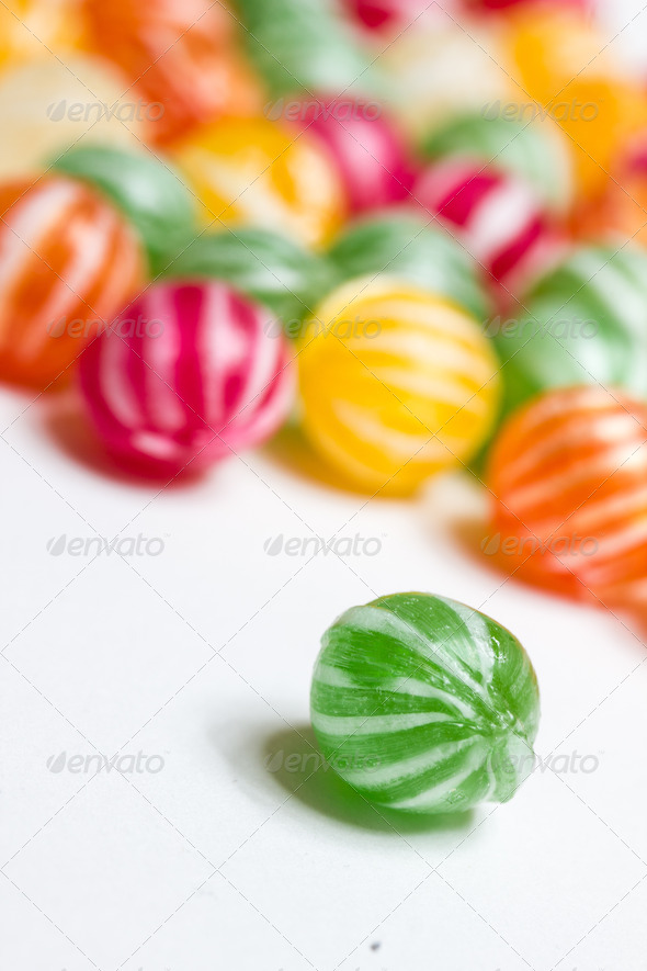 PhotoDune colorful round candies 3720369
