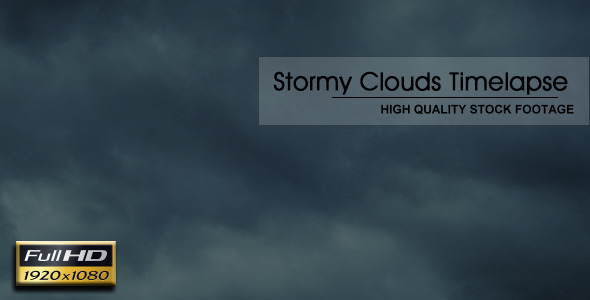 Stormy Clouds Timelapse 2 VideoHive Stock Footage  Time Lapse 3720187