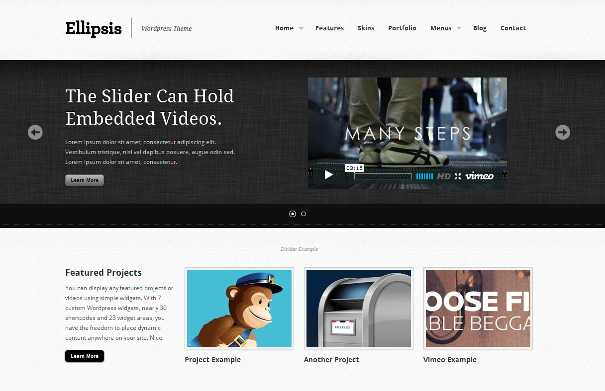 Ellipsis: Business and Portfolio Wordpress Theme