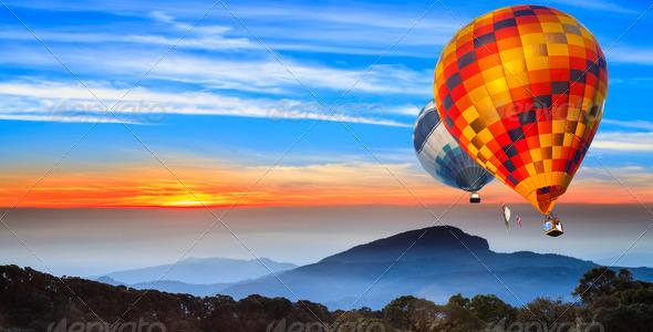 PhotoDune Landscape of sun rise at Doi Inthanon 3720202