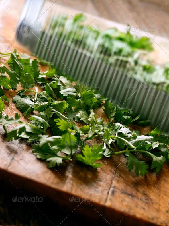 PhotoDune cutting coriander leaves 3720246