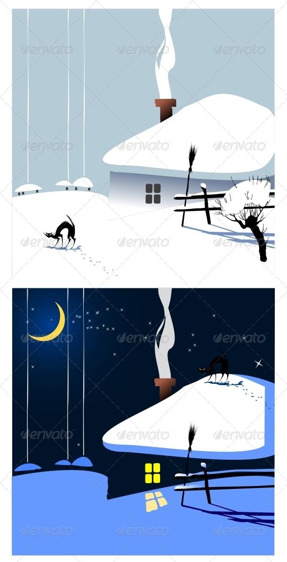 GraphicRiver Winter Village 3720352