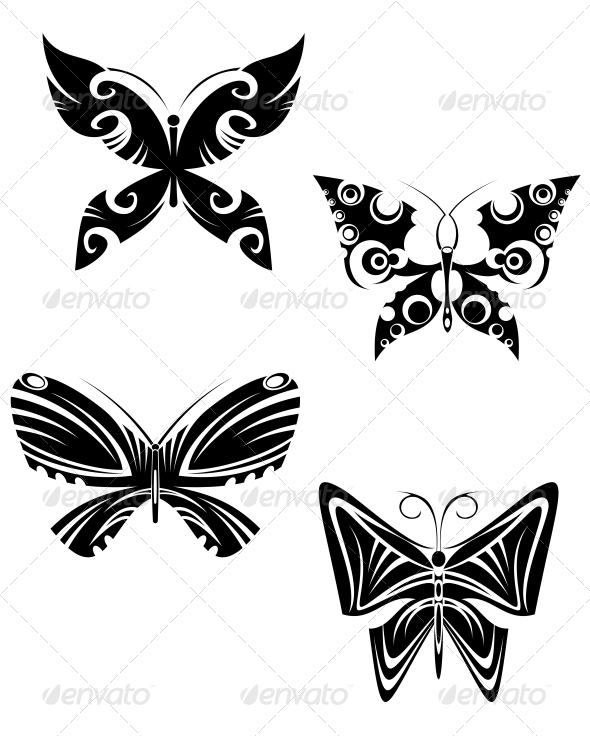 GraphicRiver Butterfly Tattoos 3720415