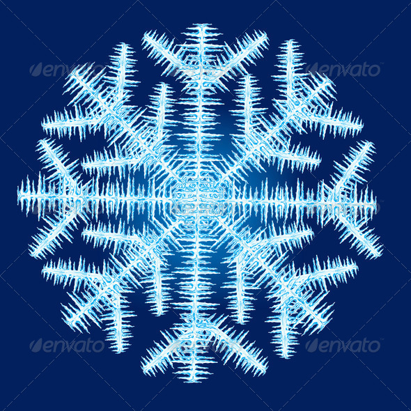 PhotoDune Illustration of the snowflake from icicle and ice 3720433