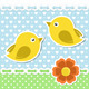 Romantic Background With Birds And Flower - GraphicRiver Item for Sale