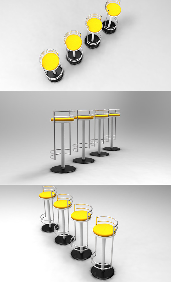 3DOcean Bar Chair 400286