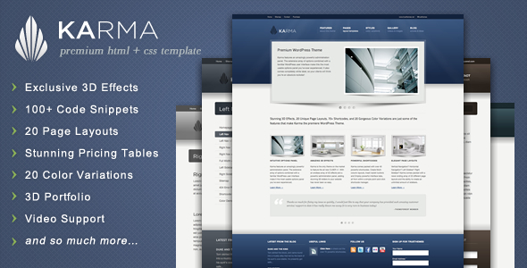 ThemeForest Karma Clean and Modern Website Template 234990