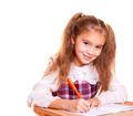 Little School Girl Doing Homework - PhotoDune Item for Sale