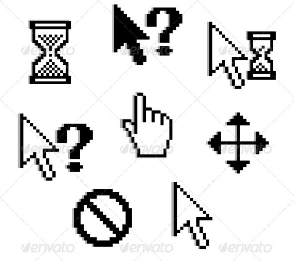 GraphicRiver Set of pixelated graphics 3720530