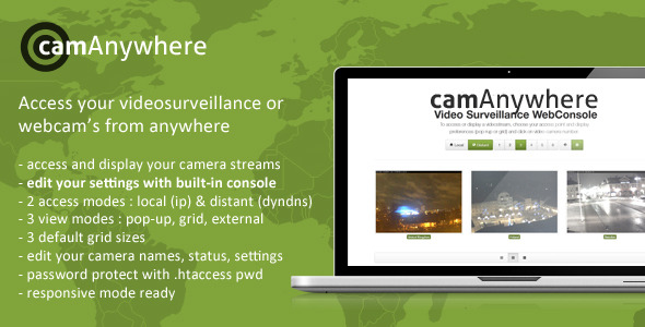 CodeCanyon camAnywhere Video Camera Surveillance WebConsole 3721094
