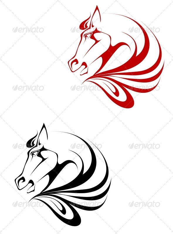 GraphicRiver Horse Tattoo 3721298