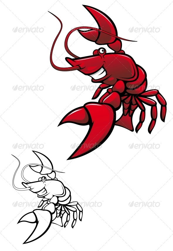 Smiling Crayfish - Animals Characters