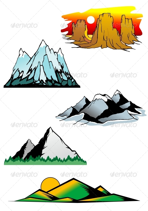 GraphicRiver Mountain Peaks 3721328