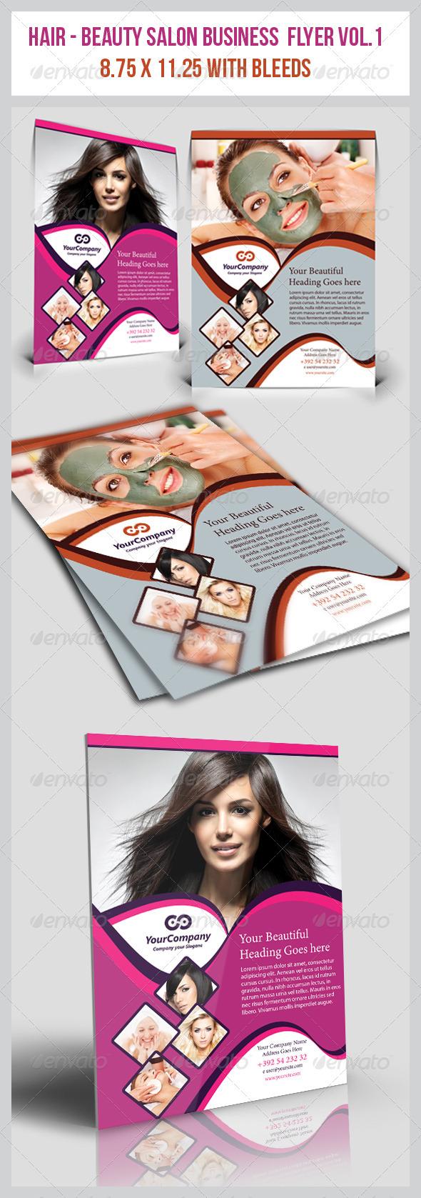 GraphicRiver Hair & Beauty Salon Business Flyer Vol.1 3721365