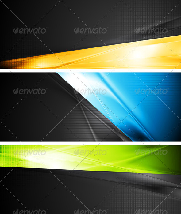 GraphicRiver Vibrant Vector Banners 3721397