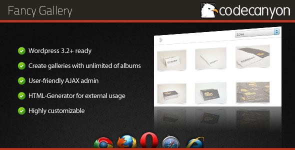CodeCanyon Fancy Gallery Wordpress plugin 400535