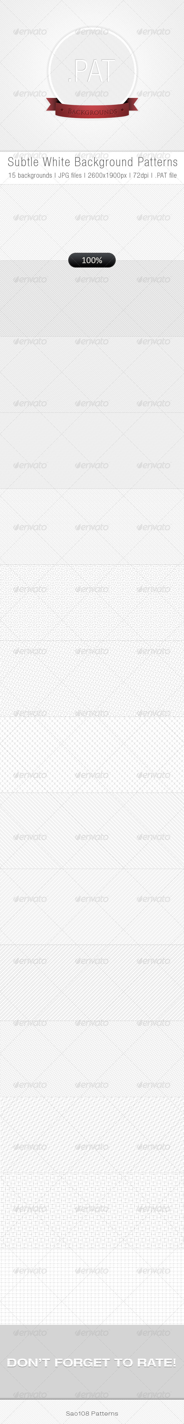 GraphicRiver Subtle White Background Patterns 3721721