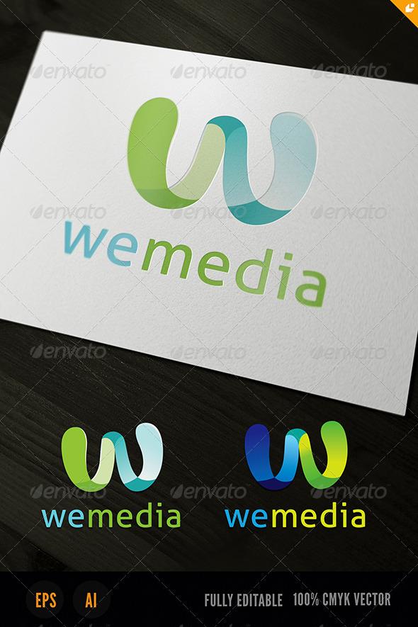 GraphicRiver We Media W Logo 3721876