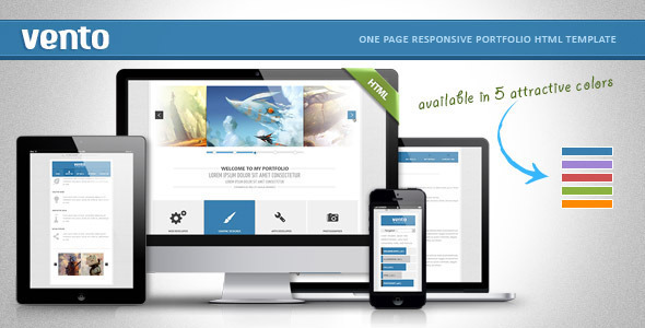 Vento - one page responsive html