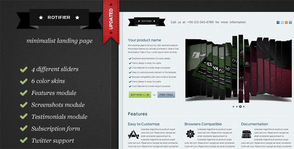 Rotifier Minimalist Landing Page