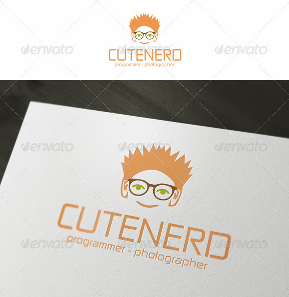 GraphicRiver Cute Nerd Geek Logo Template 3671598