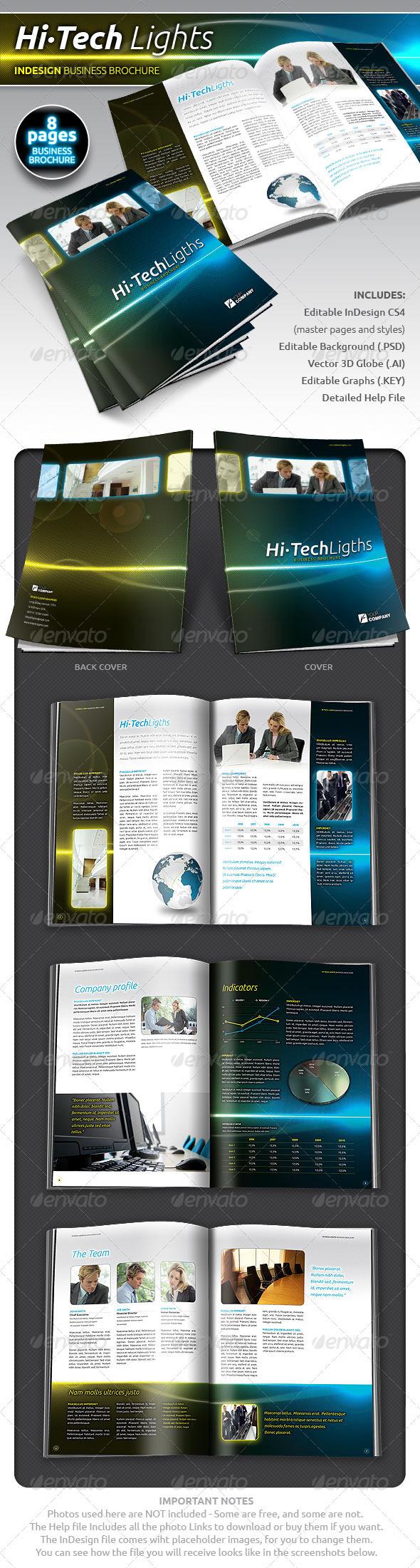 GraphicRiver Hi-Tech Lights Business Brochure 400644