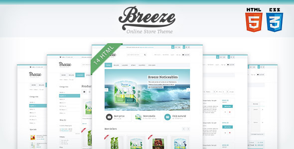 ThemeForest Breeze HTML5 & CSS3 store template 3722352