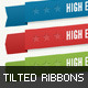 Tilted Vector Ribbons - GraphicRiver Item for Sale