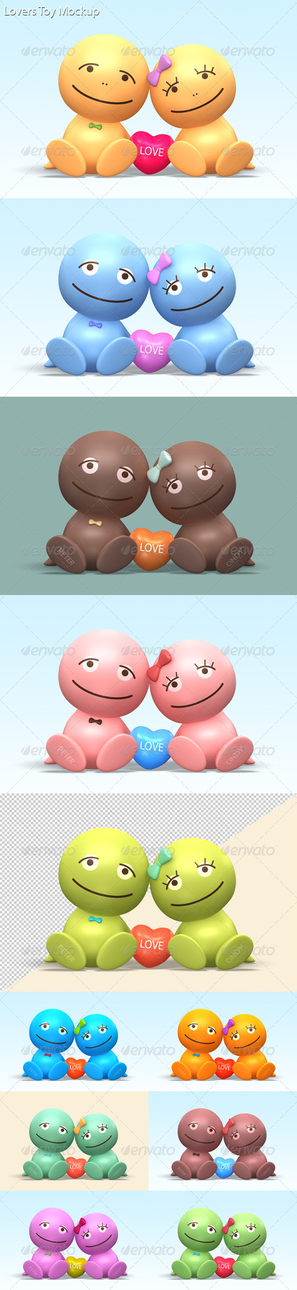 GraphicRiver Lovers Toy Mock-up 3724568