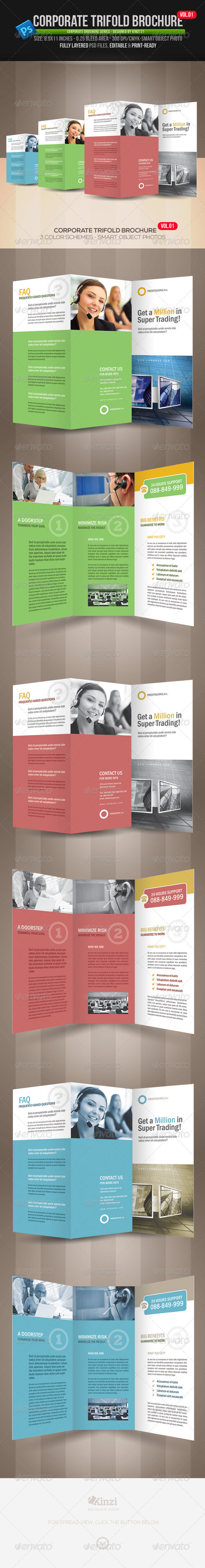 GraphicRiver Corporate Trifold Brochure Vol.01 3724650