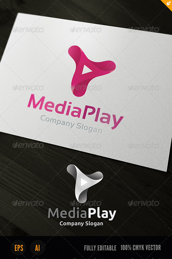 GraphicRiver Media Play Logo 3725028