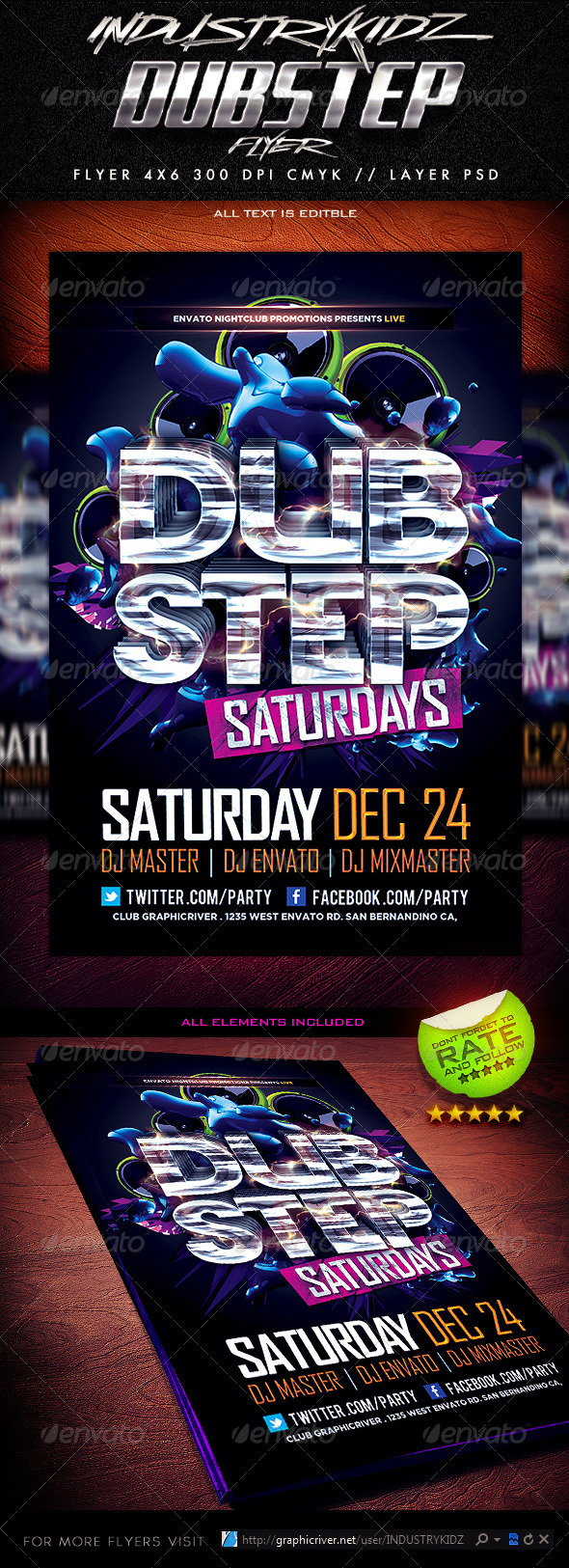 Dubstep Flyer Template - Events Flyers