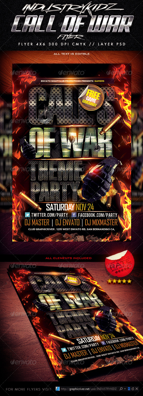 Gaming Style Flyer Template - Events Flyers