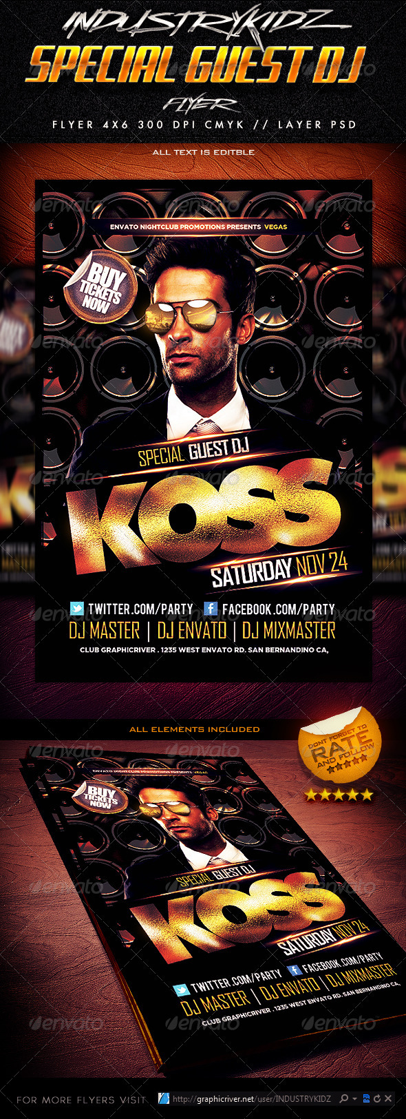 Special Guest Dj Flyer Template V2 - Events Flyers