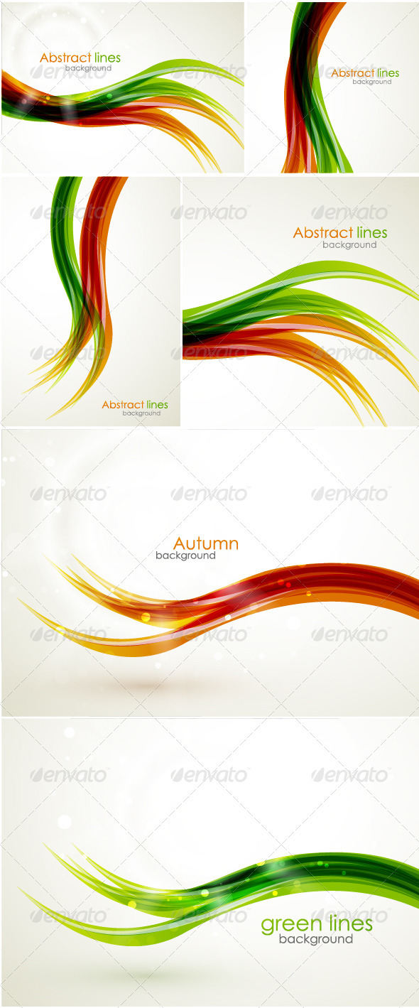 GraphicRiver Abstract wavy lines 400805