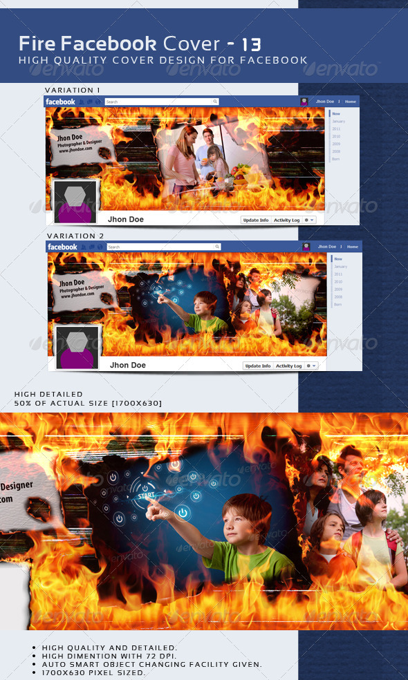 GraphicRiver Fire Fb Timeline Cover 2 14 3725277