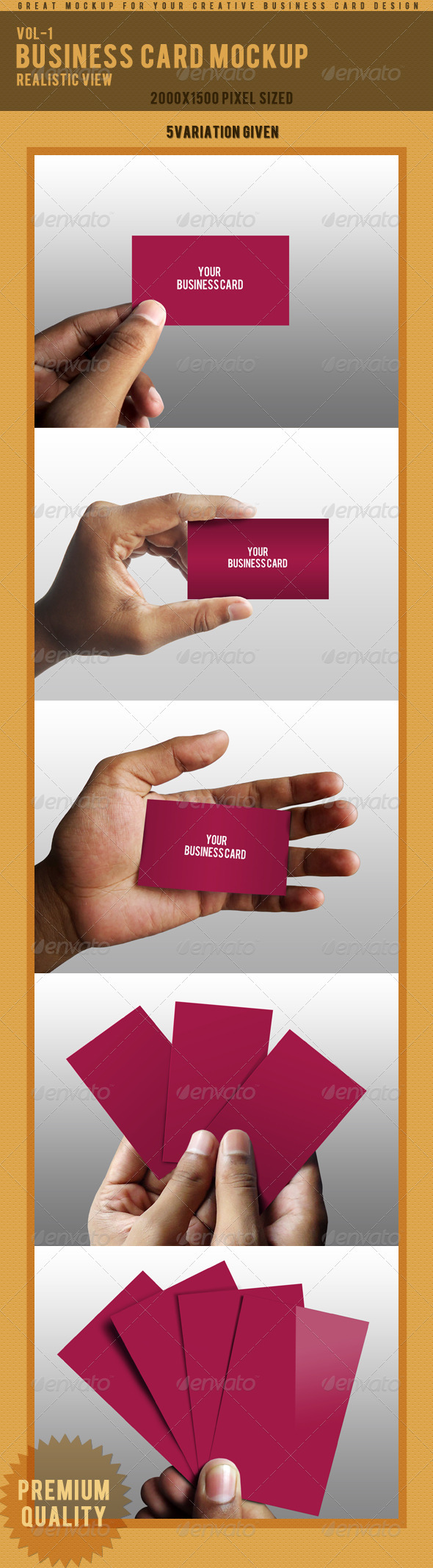 GraphicRiver Photorealistic Business Card Mockup 3725304