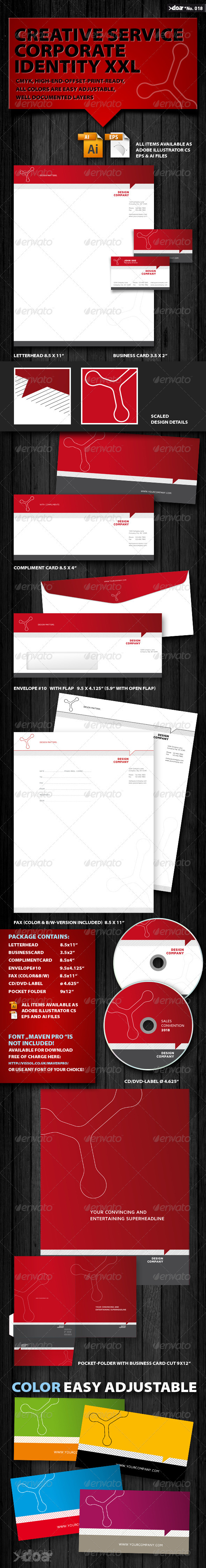 Creative Service Corporate Identity XXL - Stationery Print Templates