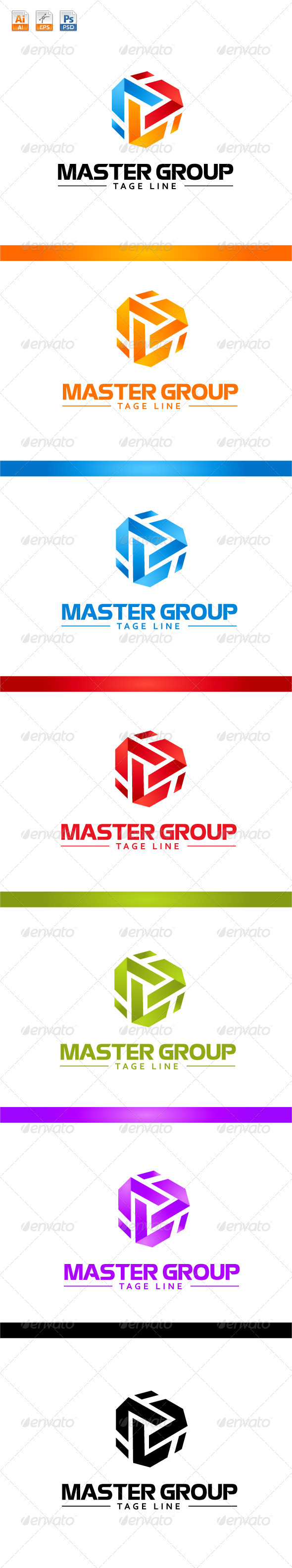Master Group Logo - Vector Abstract