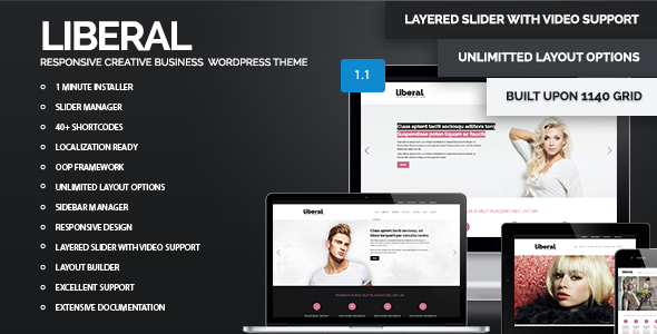 Liberal - WordPress Responsive Business Theme