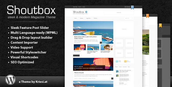 ThemeForest Shoutbox Magazine 400938