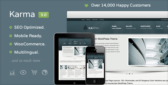 ThemeForest Karma Clean and Modern Wordpress Theme 168737