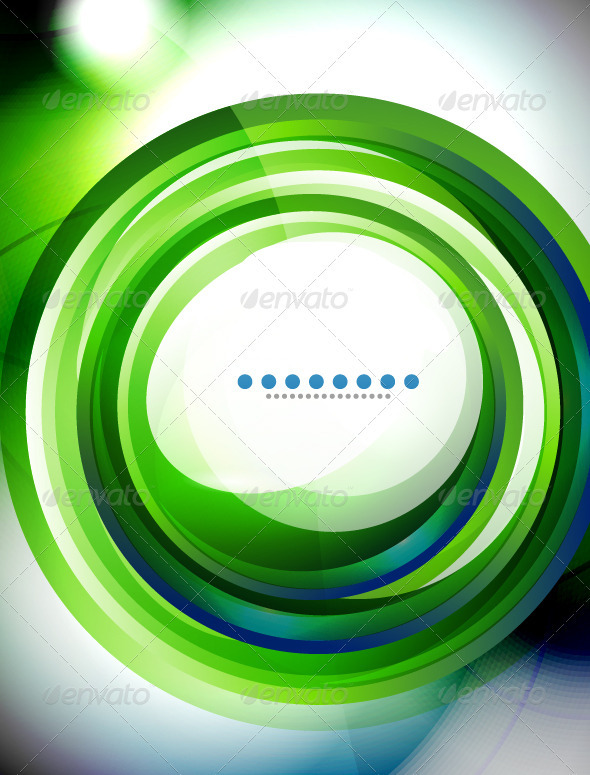 Vector Creative Green Swirl Background - Backgrounds Decorative