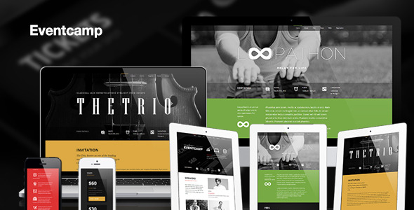 Eventcamp - Responsive One Page Marketing Template