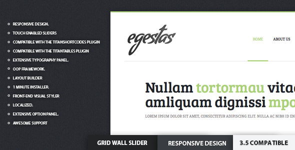 Egestas - Clean WordPress Portfolio Theme