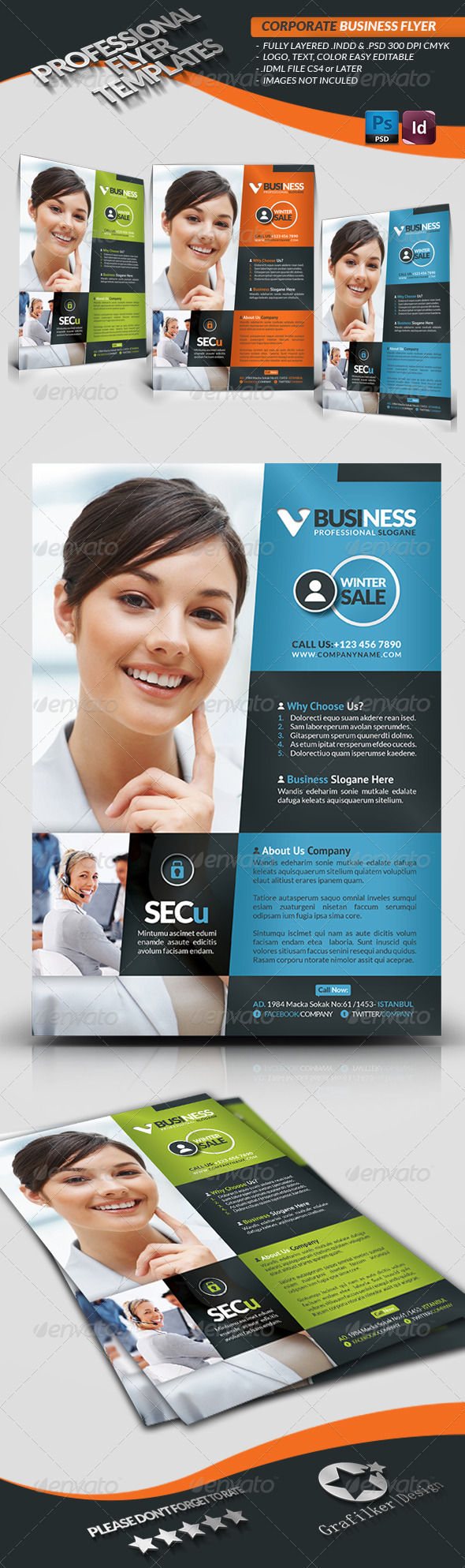 GraphicRiver Corporate Business Flyer 3727932