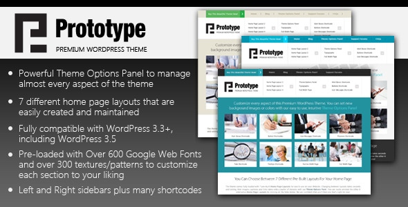 Prototype - Premium WordPress Theme
