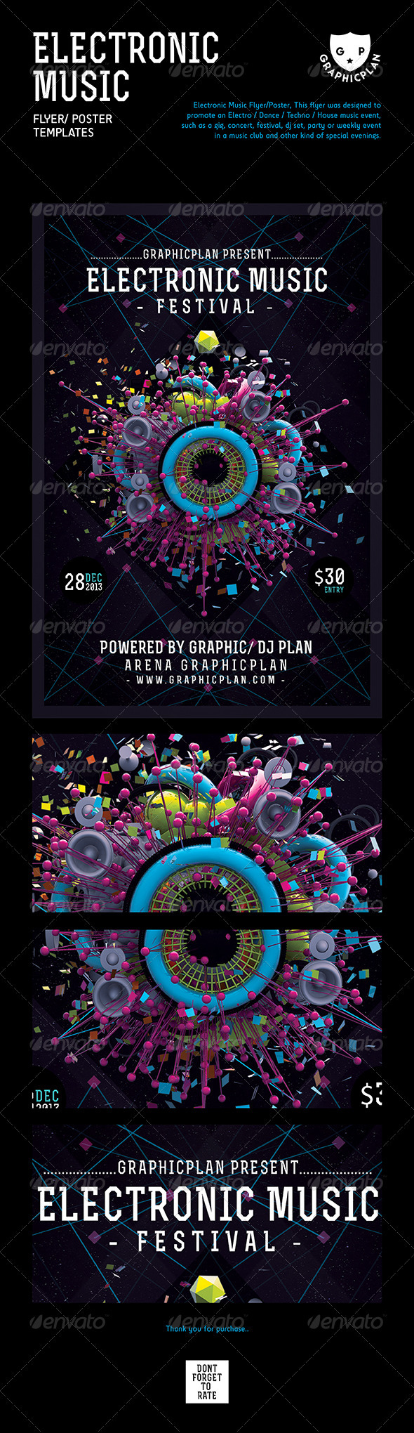 GraphicRiver Electronic Music Flyer Poster 3728301