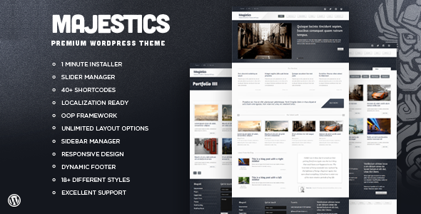 Majestics - Premium Wordpress Theme